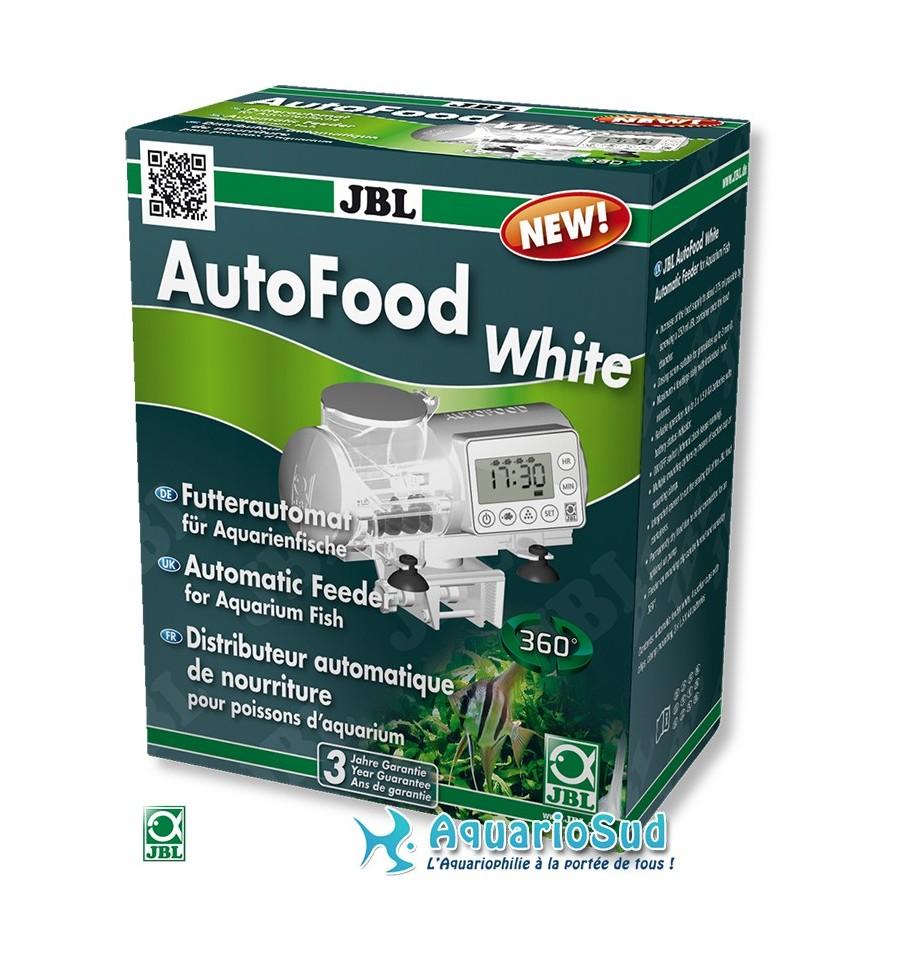 Distributeur automatique de nourriture jbl autofood blanc for Nourriture poisson rouge jbl